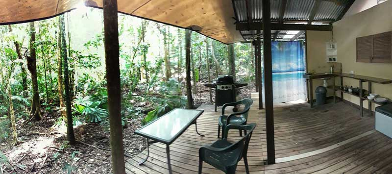 veranda looking out in to the Daintree rain forest