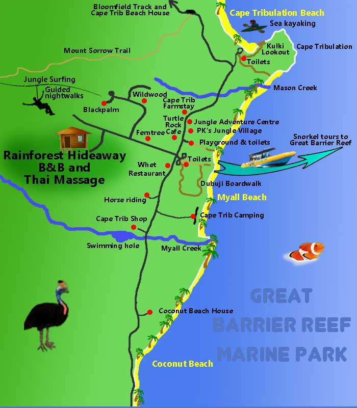 map of cape tribulation